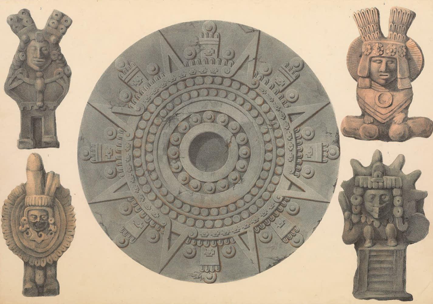 Coleccion de las Antiguedades Mexicanas - Wheel and Idols (1827)