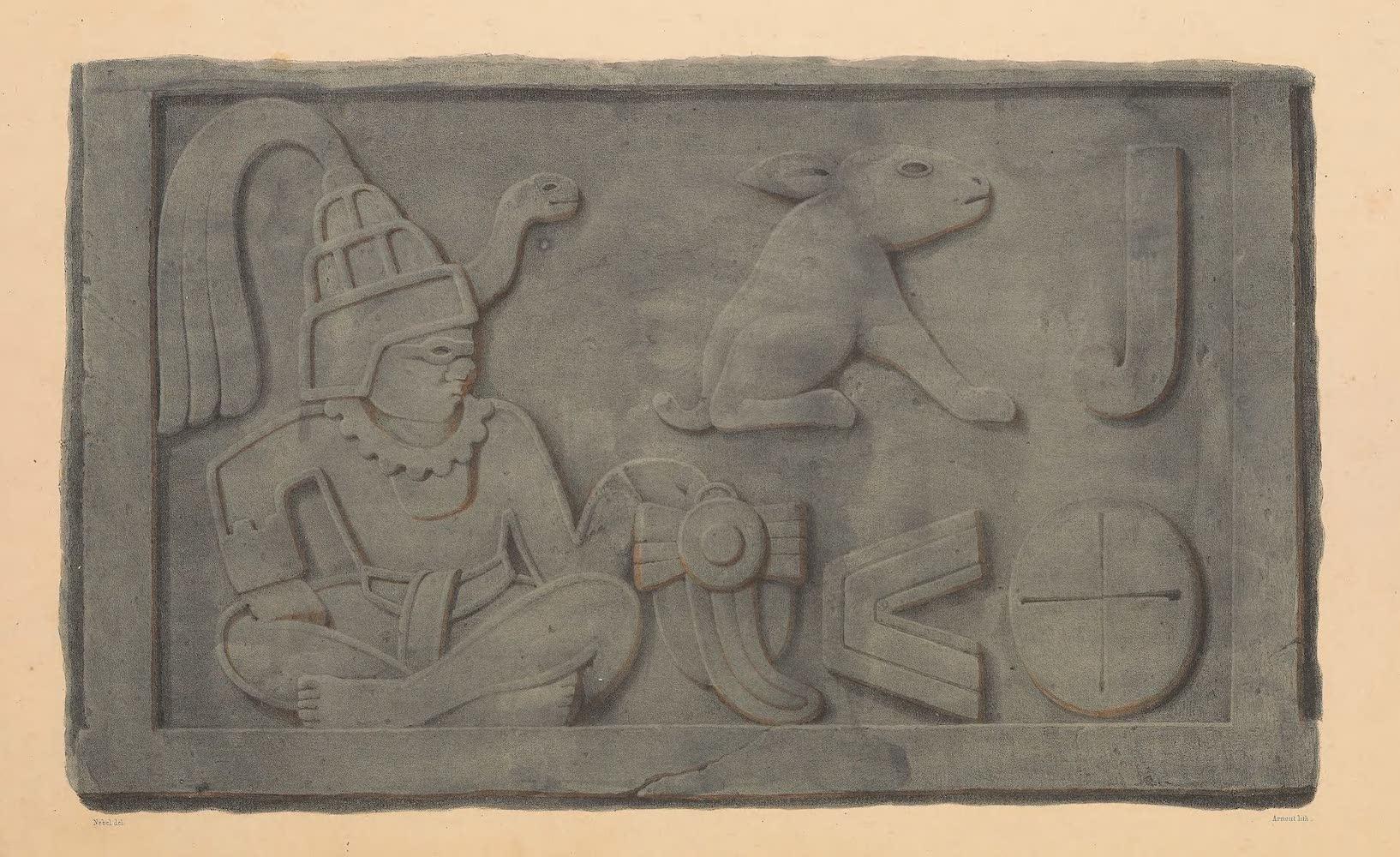 Coleccion de las Antiguedades Mexicanas - Bajo-Relievo de la Piramide de Xochicalco (1827)