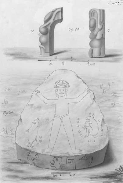Coleccion General de Laminas de los Antiguos Monumentos de Nueva Espana - Primer Viage - Lamina 3 (1820)