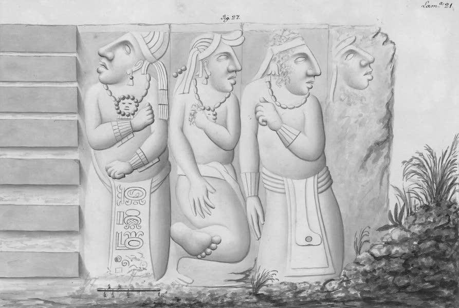 Coleccion General de Laminas de los Antiguos Monumentos de Nueva Espana - Tercer Viage - Lamina 21 (1820)
