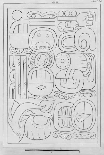 Coleccion General de Laminas de los Antiguos Monumentos de Nueva Espana - Tercer Viage - Lamina 28 (1820)
