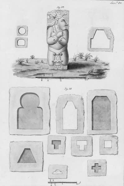 Coleccion General de Laminas de los Antiguos Monumentos de Nueva Espana - Tercer Viage - Lamina 30 (1820)