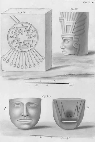 Coleccion General de Laminas de los Antiguos Monumentos de Nueva Espana - Primer Viage - Lamina 9 (1820)