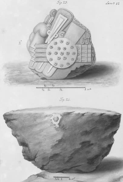 Coleccion General de Laminas de los Antiguos Monumentos de Nueva Espana - Primer Viage - Lamina 12 (1820)