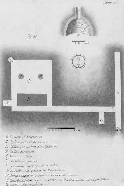 Coleccion General de Laminas de los Antiguos Monumentos de Nueva Espana - Primer Viage - Lamina 17 (1820)