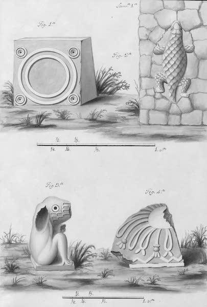 Coleccion General de Laminas de los Antiguos Monumentos de Nueva Espana - Segundo Viage - Lamina 1 (1820)
