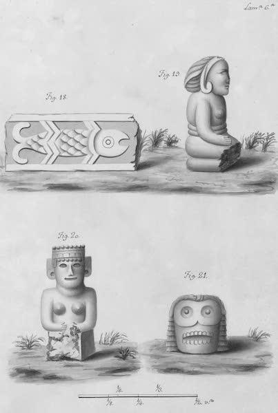 Coleccion General de Laminas de los Antiguos Monumentos de Nueva Espana - Segundo Viage - Lamina 6 (1820)