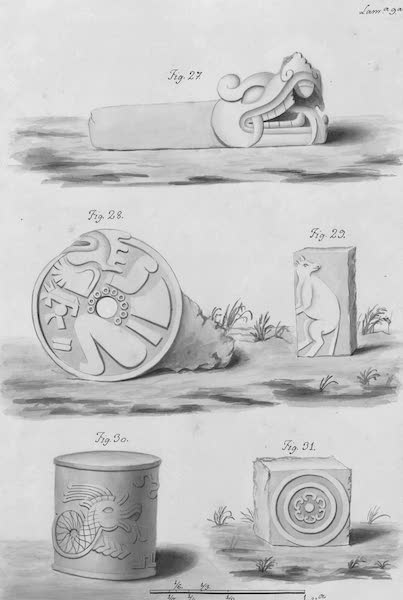 Coleccion General de Laminas de los Antiguos Monumentos de Nueva Espana - Segundo Viage - Lamina 9 (1820)