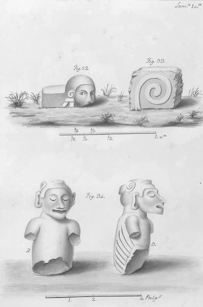 Coleccion General de Laminas de los Antiguos Monumentos de Nueva Espana - Segundo Viage - Lamina 10 (1820)