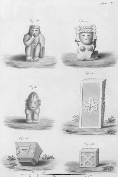 Coleccion General de Laminas de los Antiguos Monumentos de Nueva Espana - Segundo Viage - Lamina 12 (1820)