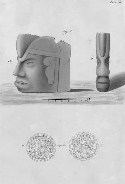Coleccion General de Laminas de los Antiguos Monumentos de Nueva Espana - Tercer Viage - Lamina 6 (1820)