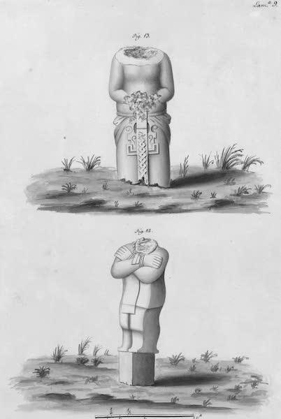 Coleccion General de Laminas de los Antiguos Monumentos de Nueva Espana - Tercer Viage - Lamina 9 (1820)