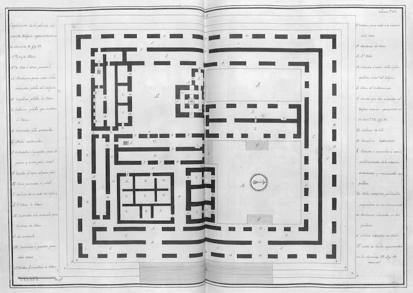 Coleccion General de Laminas de los Antiguos Monumentos de Nueva Espana - Tercer Viage - Lamina 12 (1820)