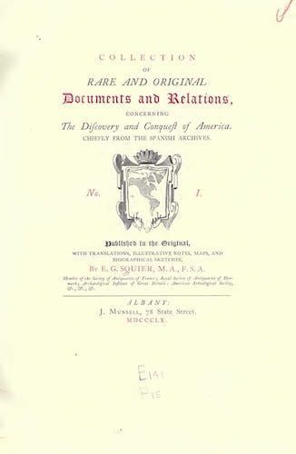 Collection of Rare and Original Documents (1860)