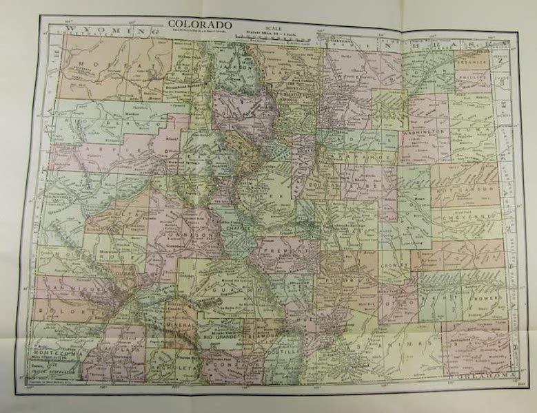 Colorado, The Queen Jewel of the Rockies - Map of Colorado (1918)