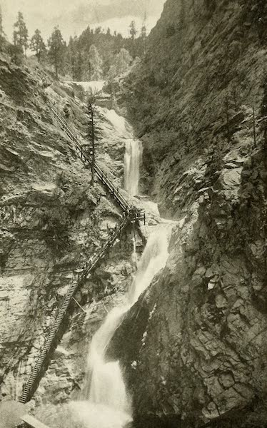 Colorado, The Queen Jewel of the Rockies - The Seven Falls, Cheyenne Canyon (1918)