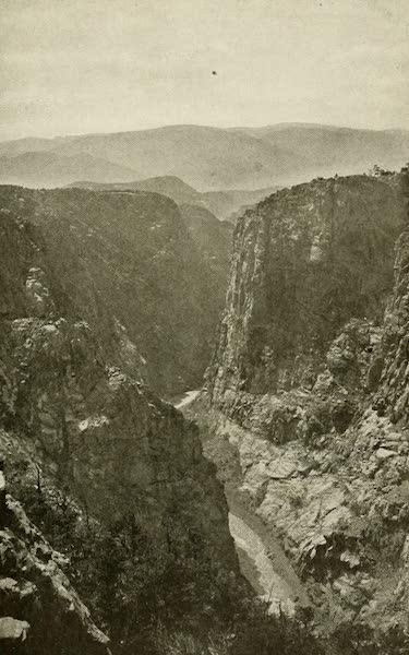 Colorado, The Queen Jewel of the Rockies - The Arkansas River, from the top of the Royal Gorge (1918)