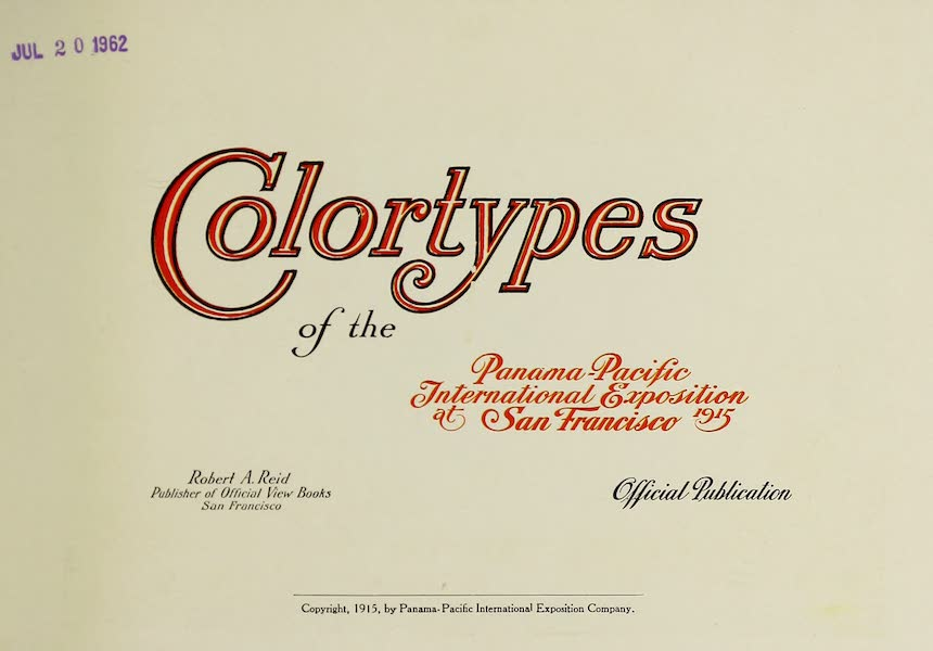 Colortypes of the Panama-Pacific International Exposition - Title Page (1915)