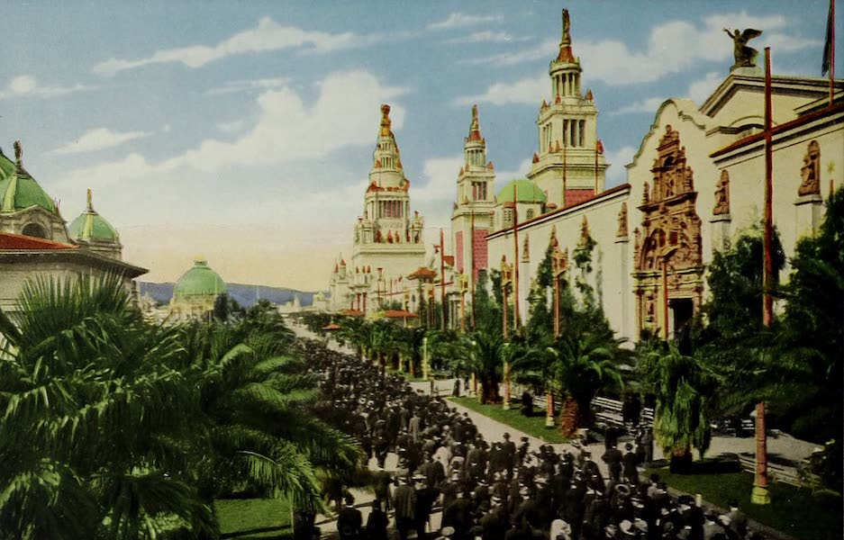 Colortypes of the Panama-Pacific International Exposition - Palm Avenue (1915)