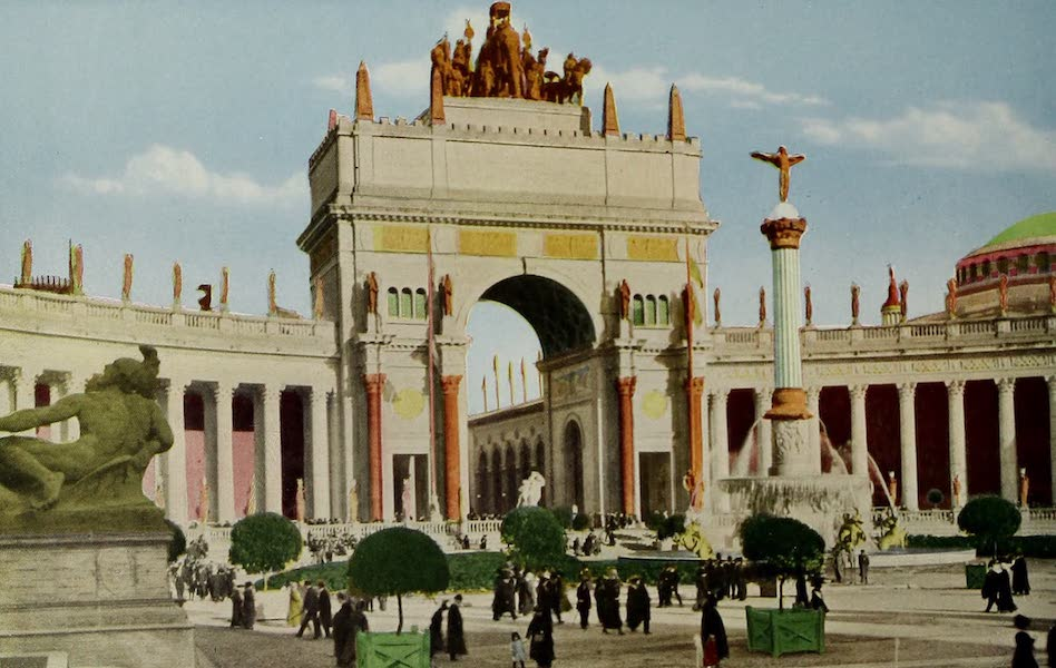 Colortypes of the Panama-Pacific International Exposition - Arch of the Rising Sun, Court of the Universe (1915)