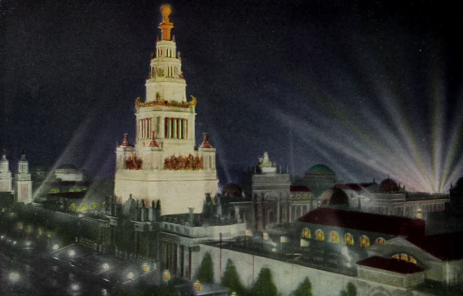 Colortypes of the Panama-Pacific International Exposition - The Tower of Jewels - Illuminated (1915)