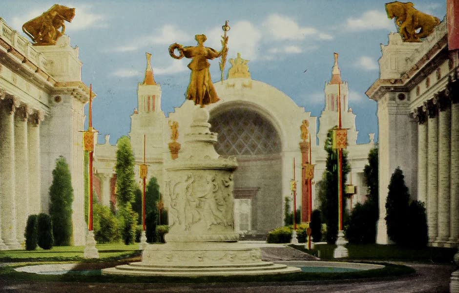 Colortypes of the Panama-Pacific International Exposition - The Fountain of Ceres, Entrance to Court of the Four Seasons (1915)