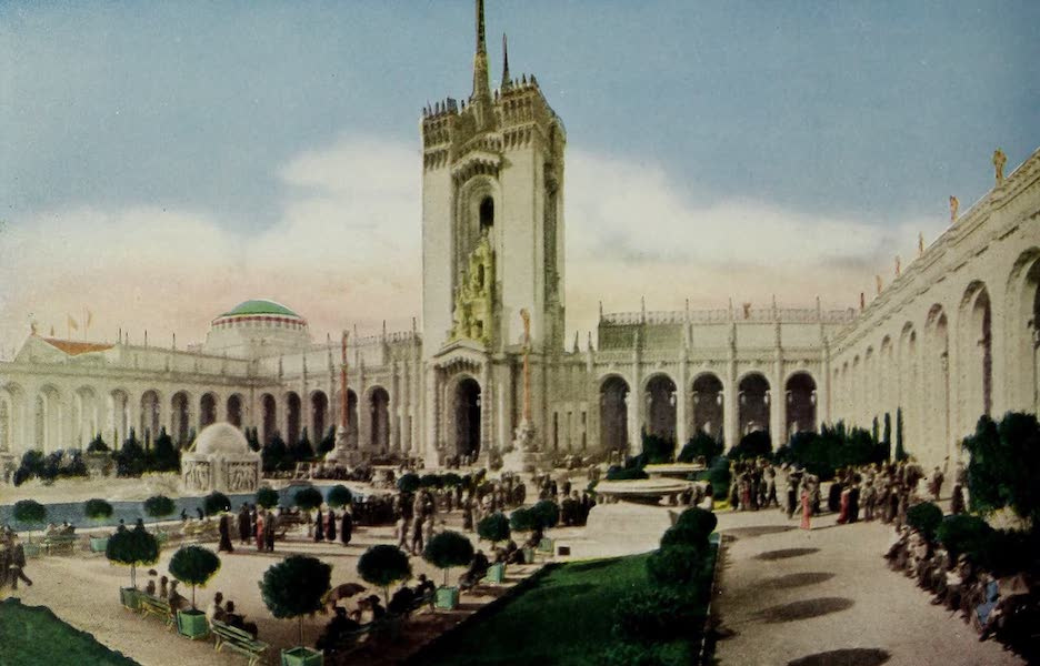 Colortypes of the Panama-Pacific International Exposition - Mullgardt's Tower, Court of Abundance (1915)