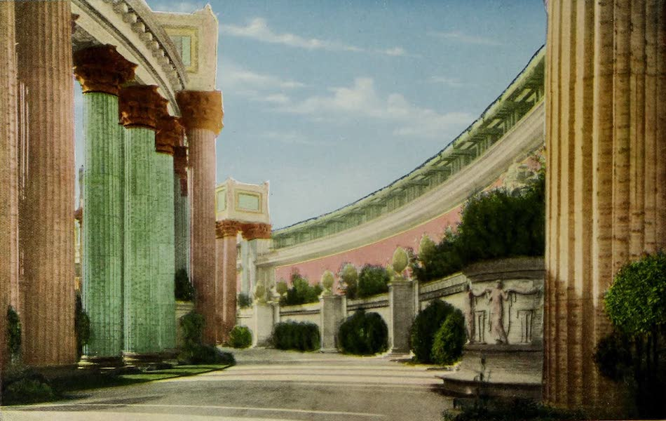 Colortypes of the Panama-Pacific International Exposition - Section of A Colonnade Palace of Fine Arts (1915)