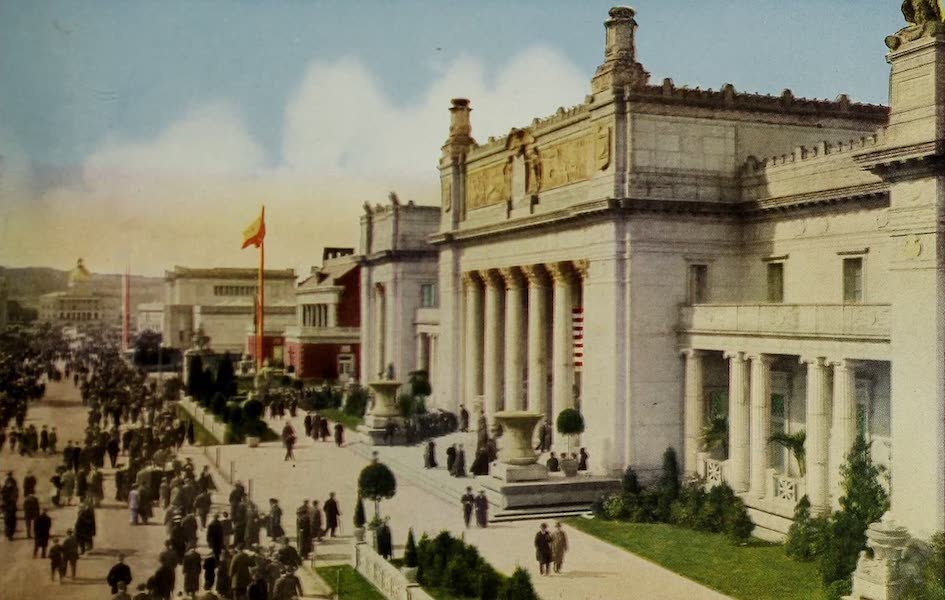 Colortypes of the Panama-Pacific International Exposition - A Section of the Esplanade (1915)