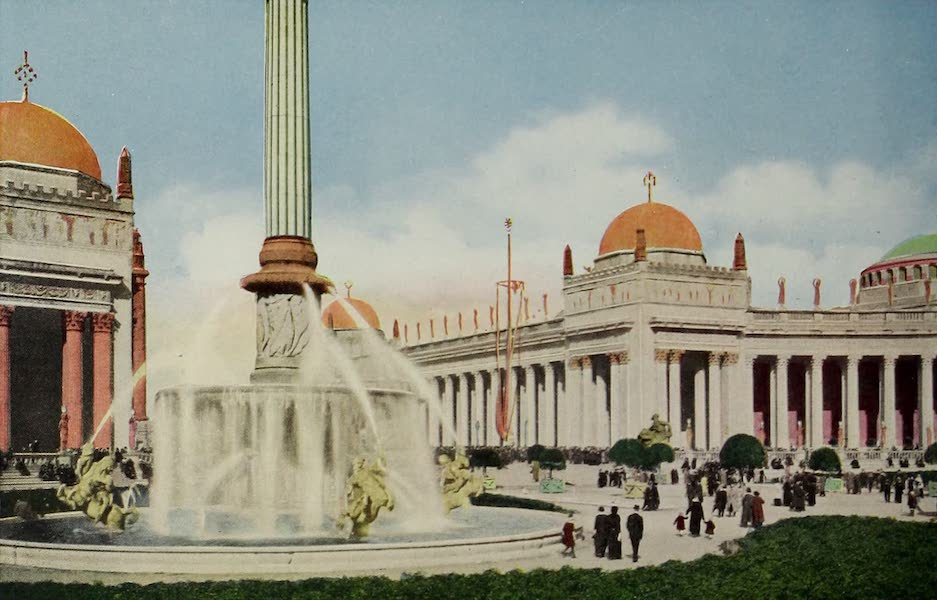 Colortypes of the Panama-Pacific International Exposition - Fountain of the Setting Sun Court of the Universe (1915)