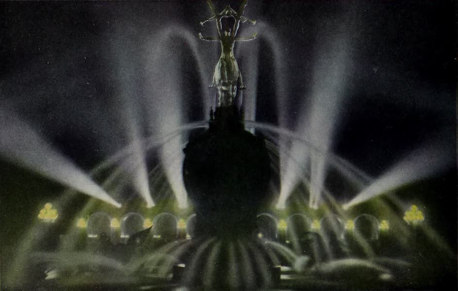 Colortypes of the Panama-Pacific International Exposition - Calder's Fountain of Energy - Illuminated (1915)