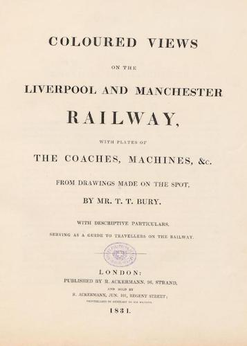 Aquatint & Lithography - Coloured Views of the Liverpool and Manchester Railway