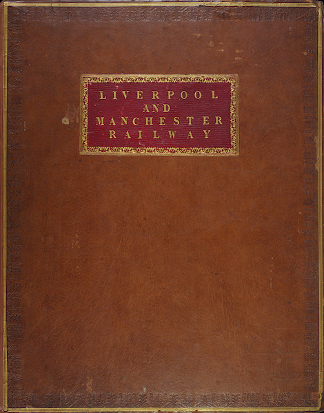 Coloured Views of the Liverpool and Manchester Railway - Front Cover (1831)