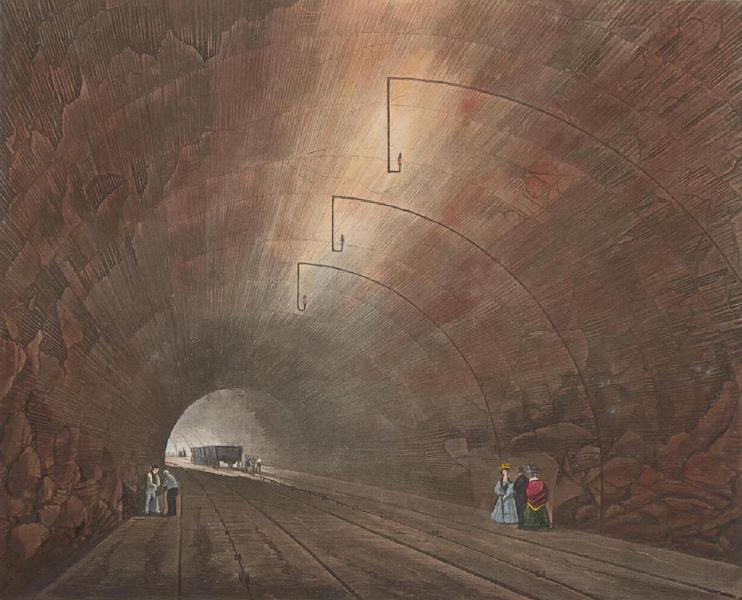 Coloured Views of the Liverpool and Manchester Railway - The Tunnel (1831)
