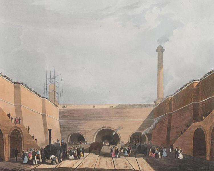 Coloured Views of the Liverpool and Manchester Railway - Entrance of the Railway at Edge-Hill Liverpool (1831)