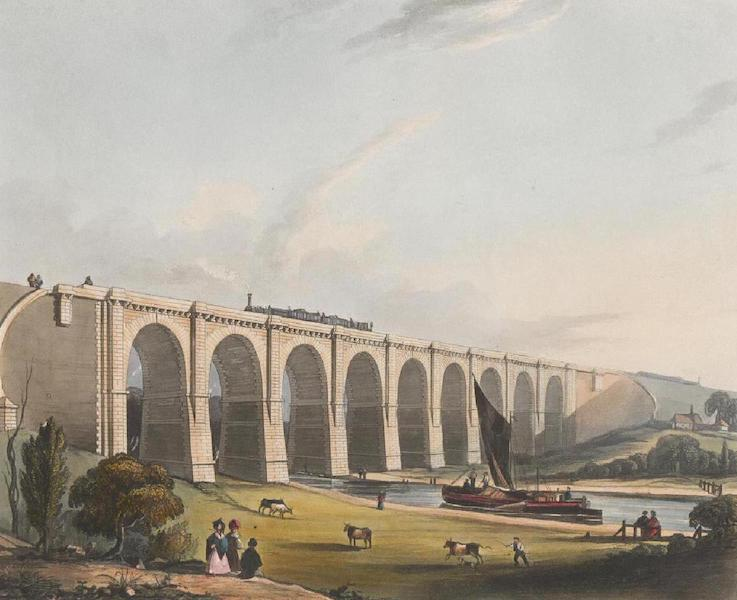 Coloured Views of the Liverpool and Manchester Railway - Viaduct across the Sankey Valley (1831)