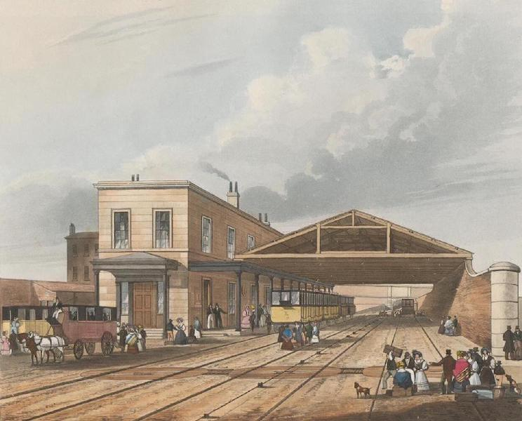 Coloured Views of the Liverpool and Manchester Railway - Railway Office Liverpool (1831)