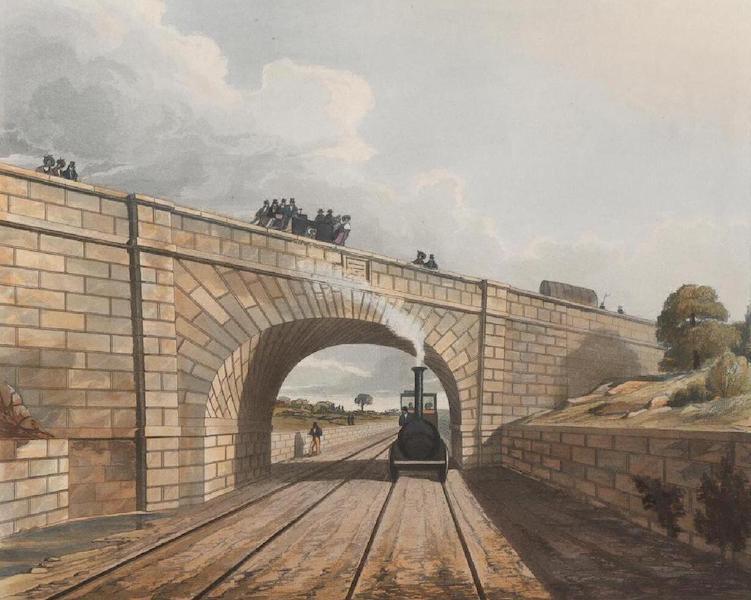 Coloured Views of the Liverpool and Manchester Railway - Rainhill Bridge (1831)