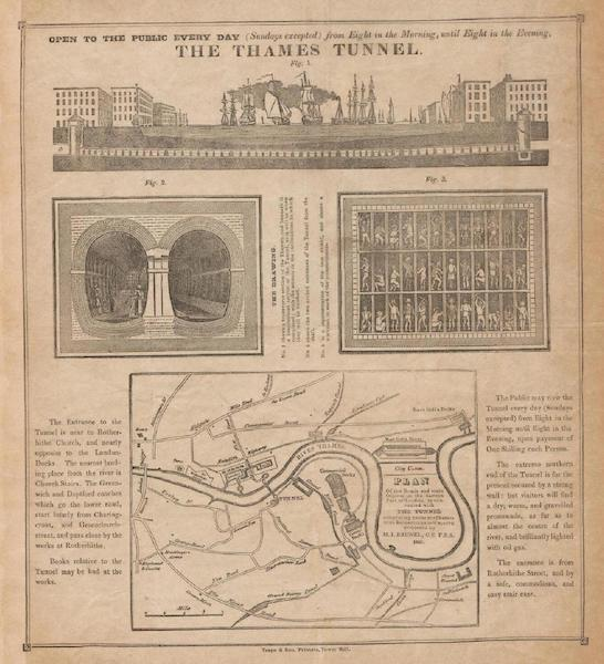 Coloured Views of the Liverpool and Manchester Railway - Advertisement Map (1831)