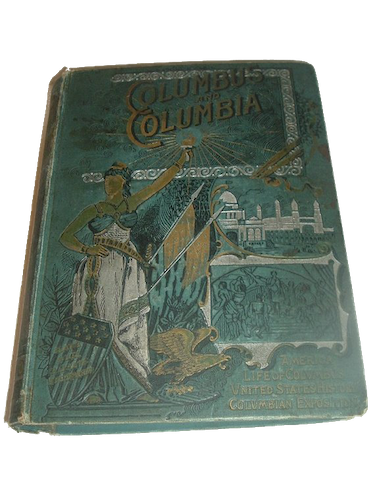 Columbus and Columbia - Book Display I (1892)