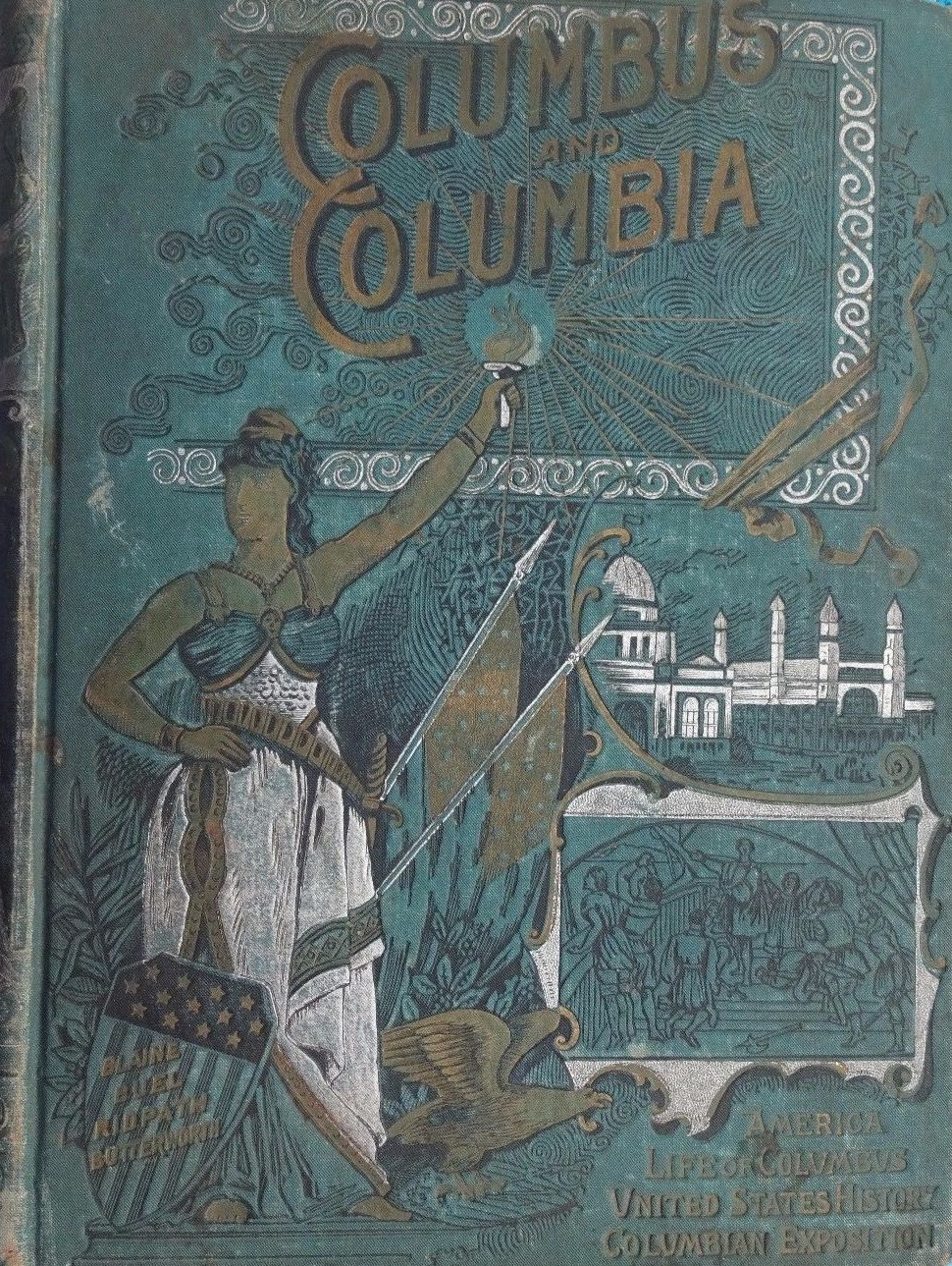 Columbus and Columbia - Front Cover (1892)