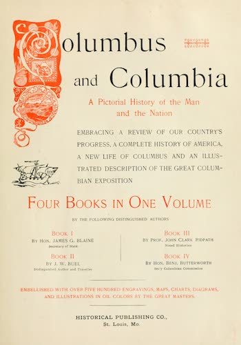 Columbus and Columbia - Title Page (1892)