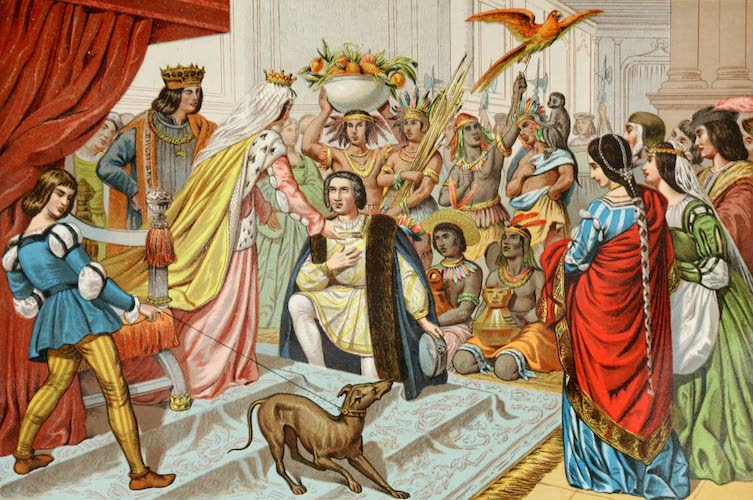 Columbus and Columbia - Columbus's Return from the New World (1892)