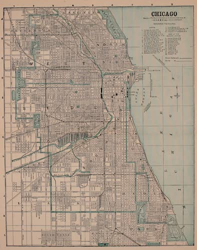 Columbus and Columbia - Map of Chicago (1892)