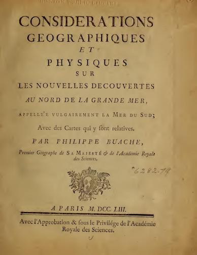 French - Considerations Geographiques et Physiques sur les Nouvelles Decouvertes