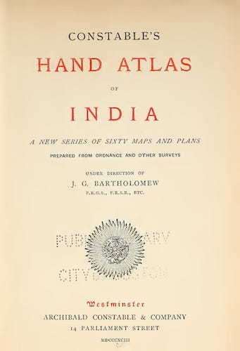 English - Constable's Hand Atlas of India