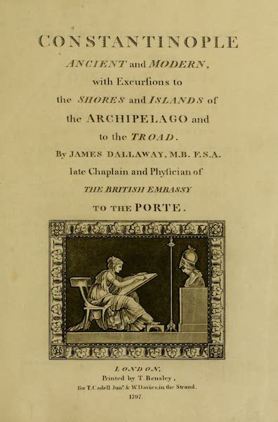 Constantinople Ancient and Modern - Title Page (1797)