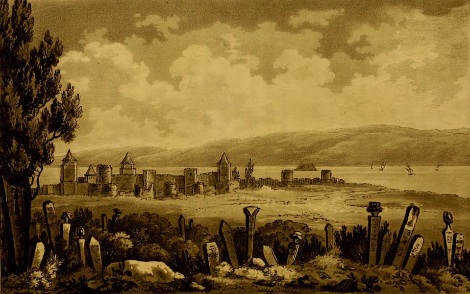 Constantinople Ancient and Modern - Seven Towers, from a Turkish Cemetery (1797)