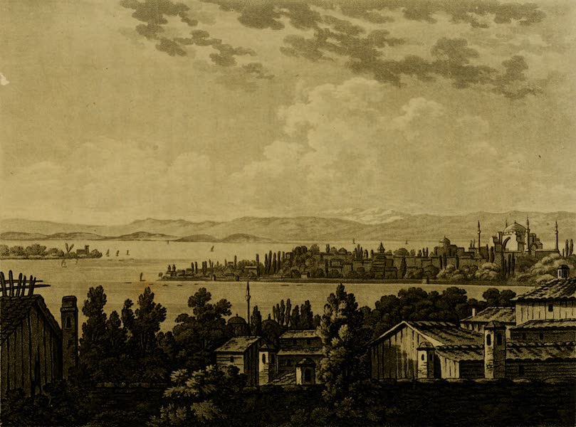Constantinople Ancient and Modern - The Seraglio Point from the British Palace at Pera (1797)