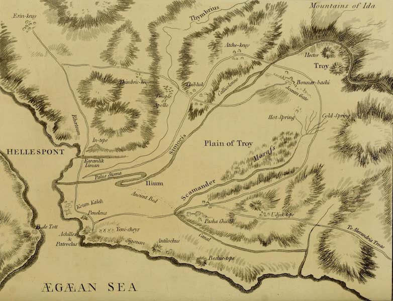 Constantinople Ancient and Modern - Sketch of the Geography of the Troad (1797)